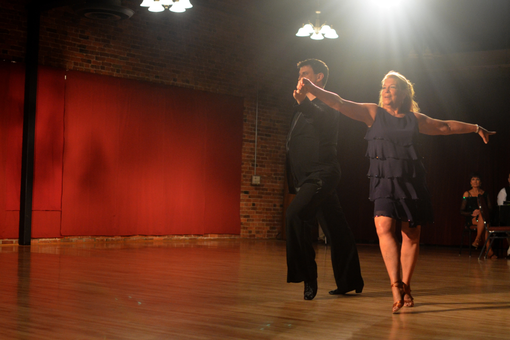 Linda Speers dances a Cha Cha with Jeremy Jamison of 402 Dancesport