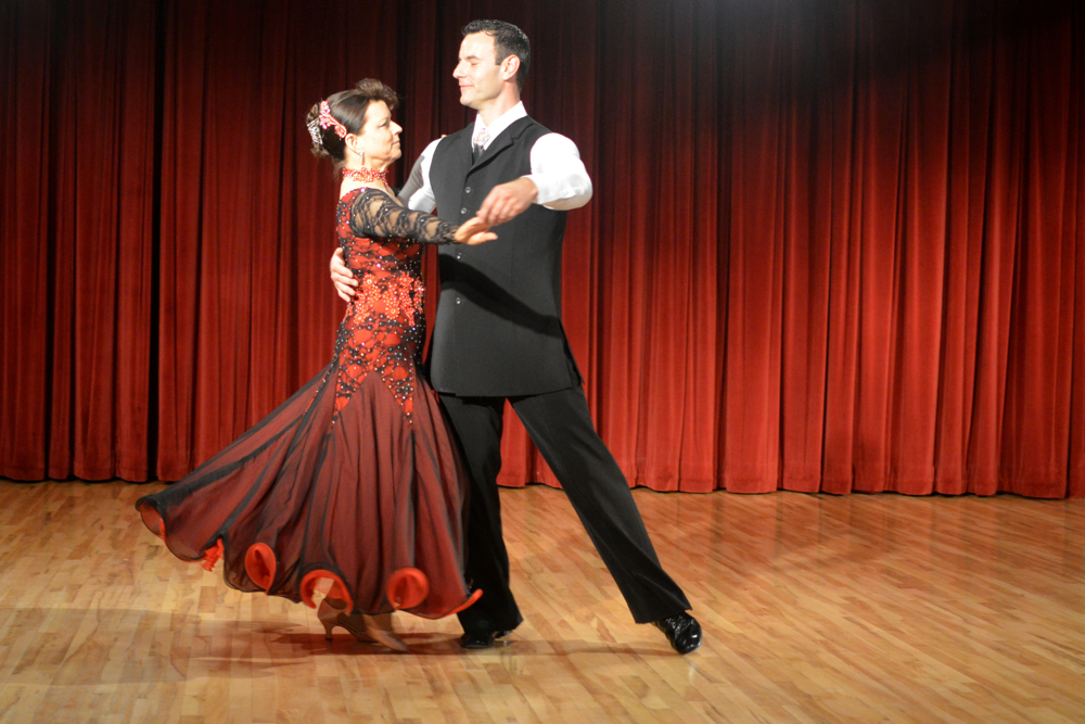 From a beautiful waltz performed by Leigh Jean Koinzan and instructor Alex Stidham of Simply Ballroom.