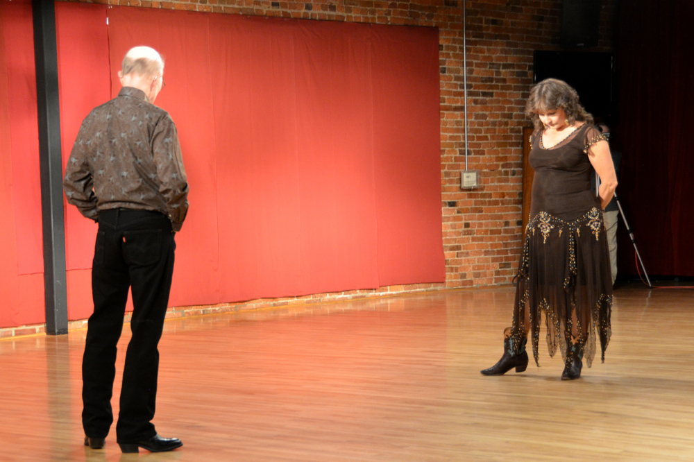 Jim Brendle with Kim Dondlinger performing a Country Cha Cha.