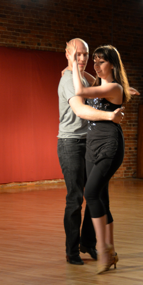 Chris Thomsen and Katie Nieland performing a West Coast Swing and Rumba medley.