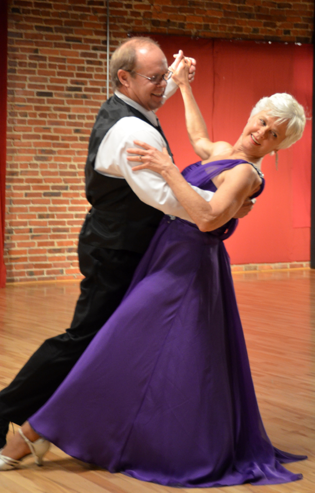 George Pasika and Carol Schnieder performing a Waltz