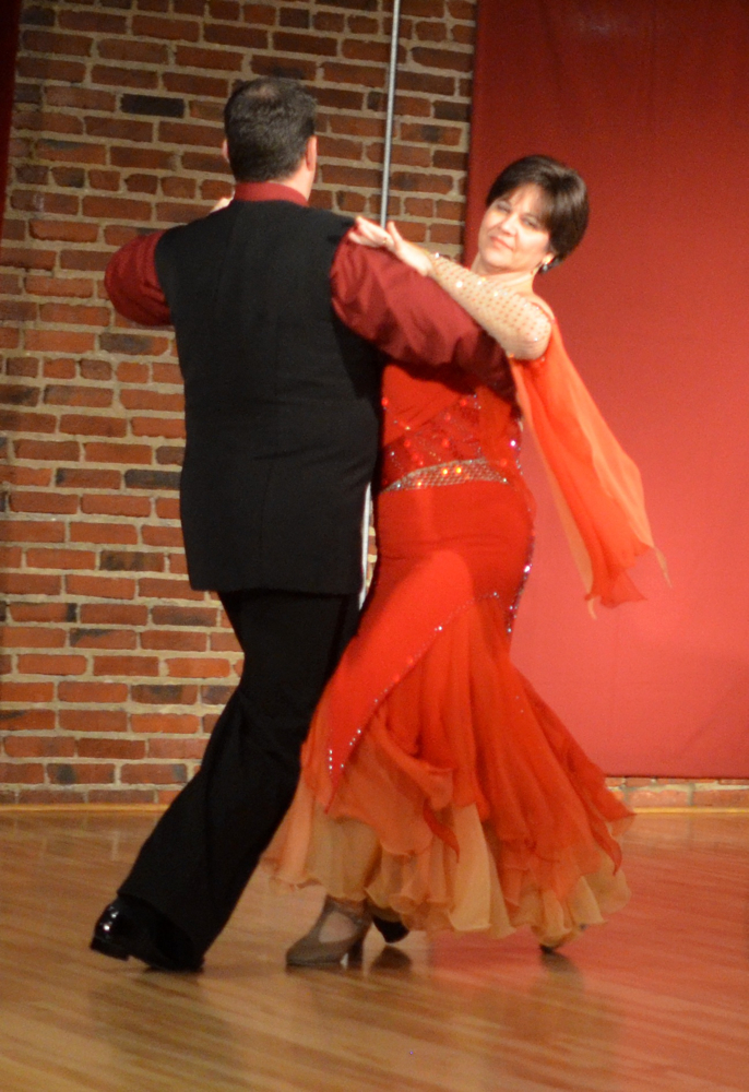 Patti Johnson with Jeremy Jamison performing a Waltz