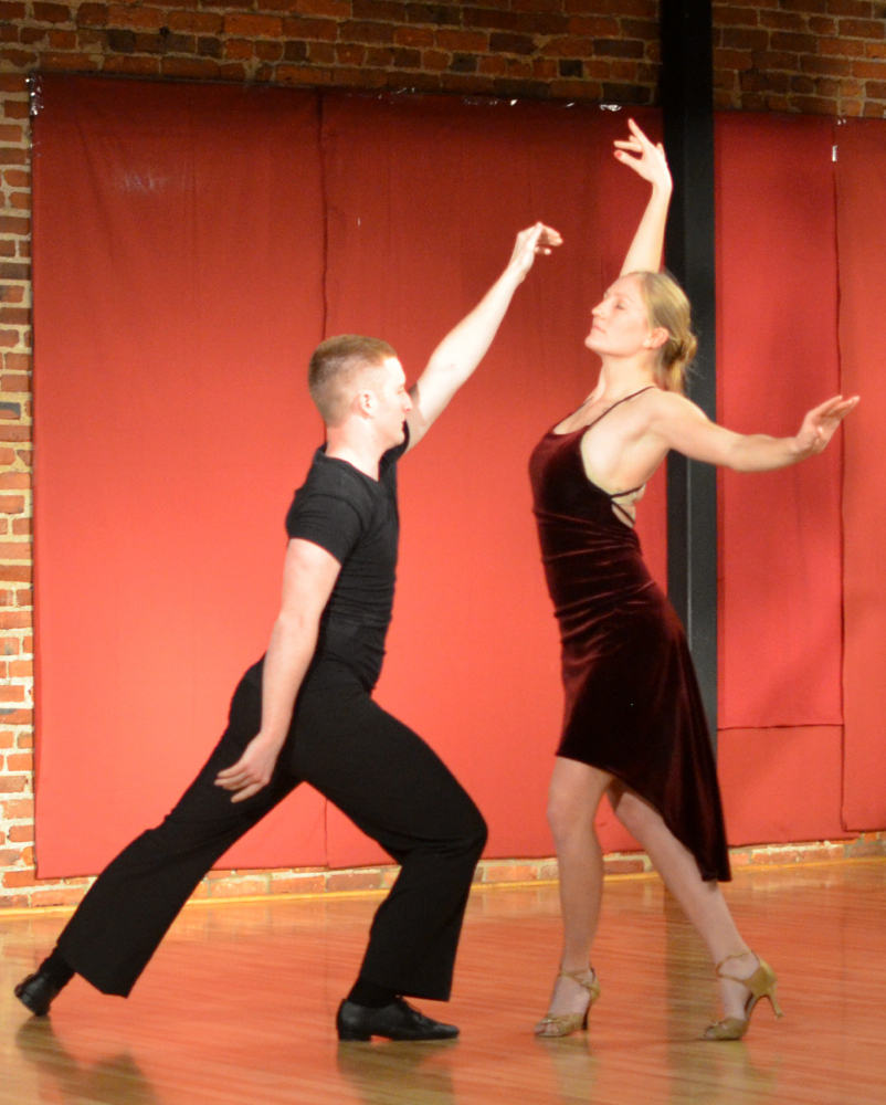 Anneli Dudley and Joseph Dickey finished Act III and the evening with their Argentine Tango.