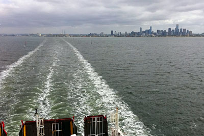Leaving Melbourne in our wake.