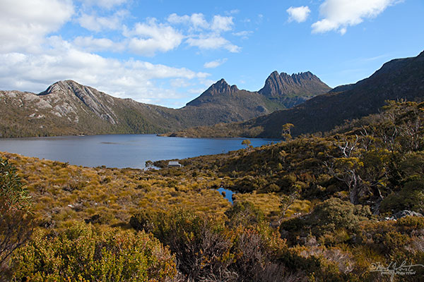Dove Lake with Cradle Mountain in the background.