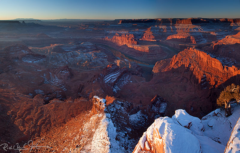 Dead Horse Point at sunrise.
