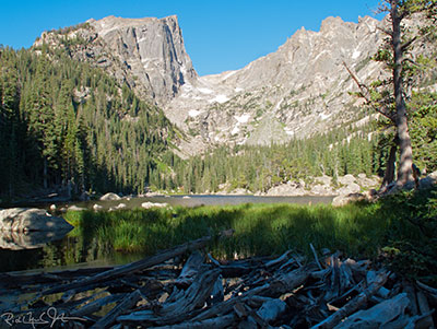 8:08 AM: Dream Lake in early morning light.