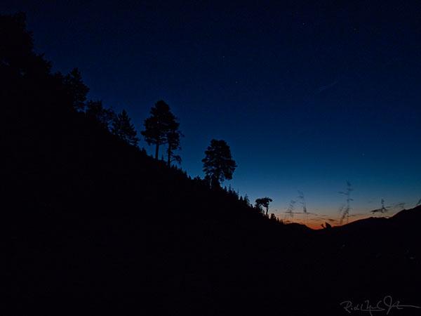 4:28 AM: Climbing towards the sunrise.