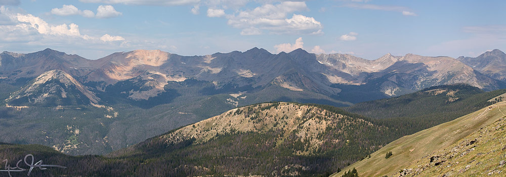 Rocky Mountain panorama.