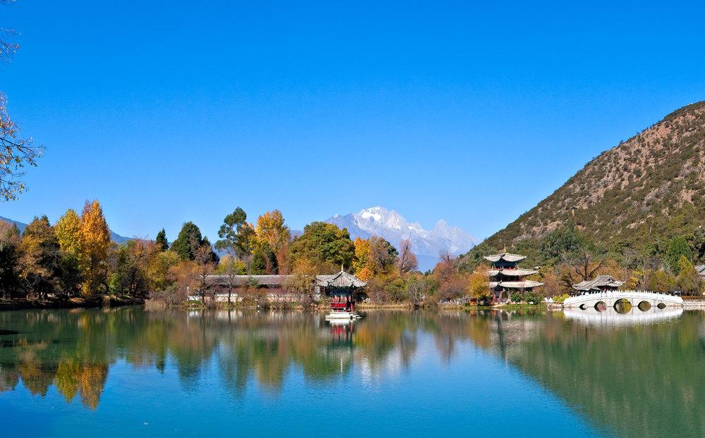 Black Dragon Lake, Li Jiang, Yunnan Province, China.