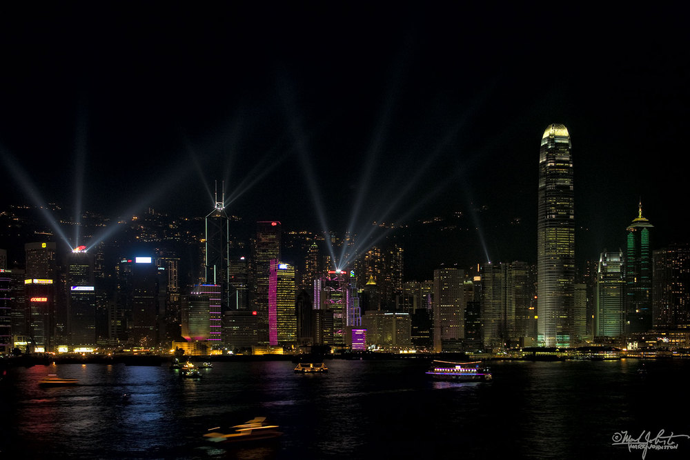 Hong Kong seen from the Kowloon side.