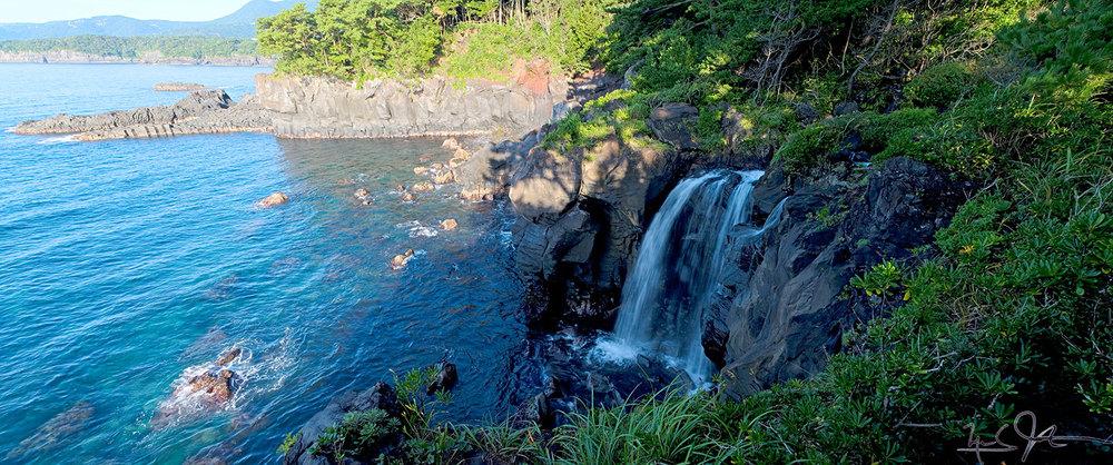 Tajima Falls, on the Jyogasaki Coast, Izu Peninsula, Japan.