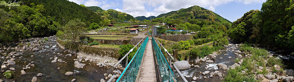 Footbridge near Kawayoko, Kawazu, Shizuoka, Japan.