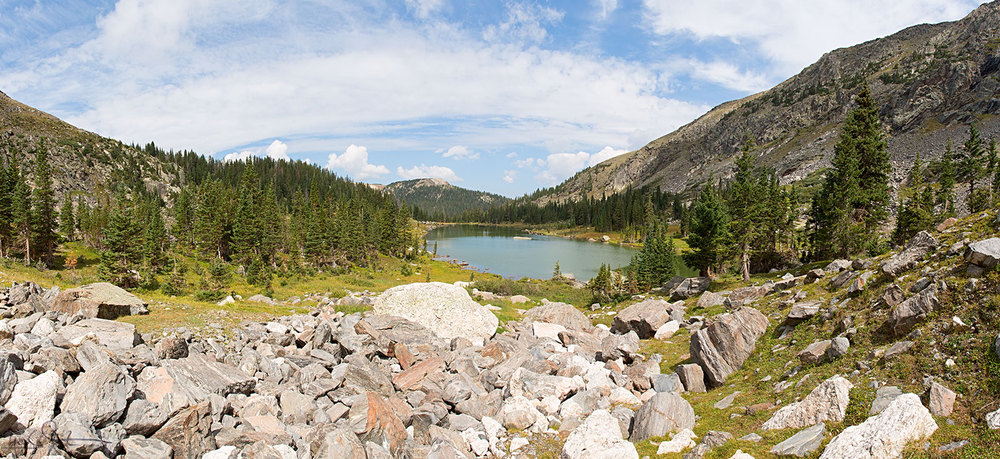 Timber Lake, Rocky Mountain National Park, from the rockfall at its head.