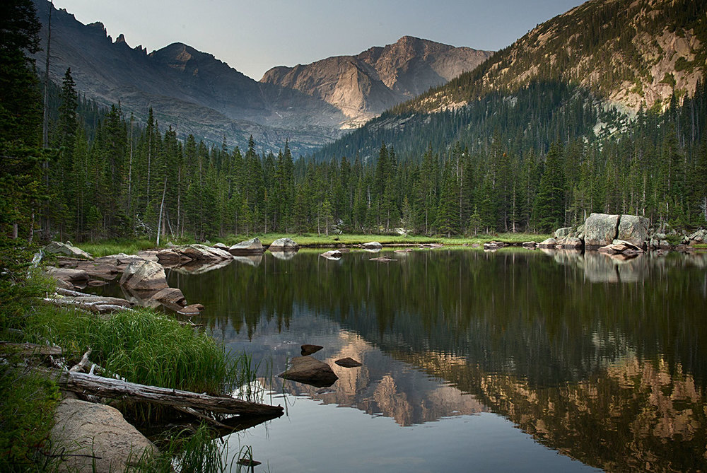 Jewel Lake, Rocky Mountain National Park.