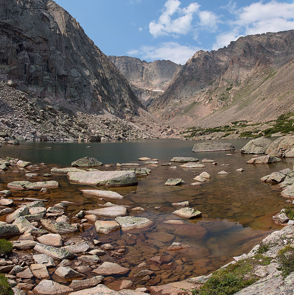 Solitude Lake [elevation 11,400 ft], with Powell Peak in the background, Rocky Mountain National Park.