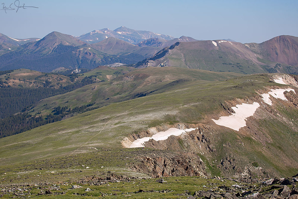 The Continental Divide between Milner Pass and Mt. Ida.