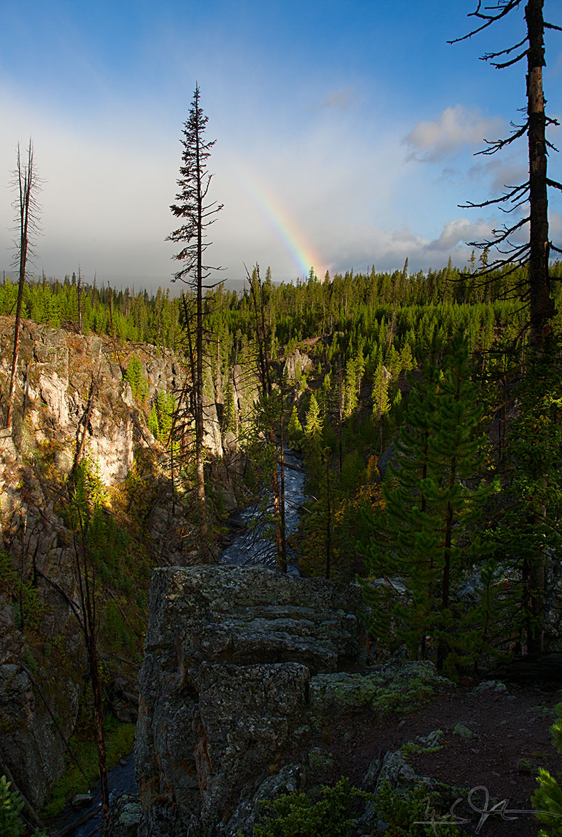 Rainbow at Kepler Cascades.