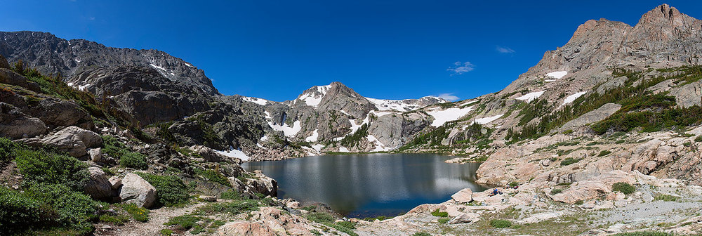 Bluebird Lake, elevation 10,978 ft.