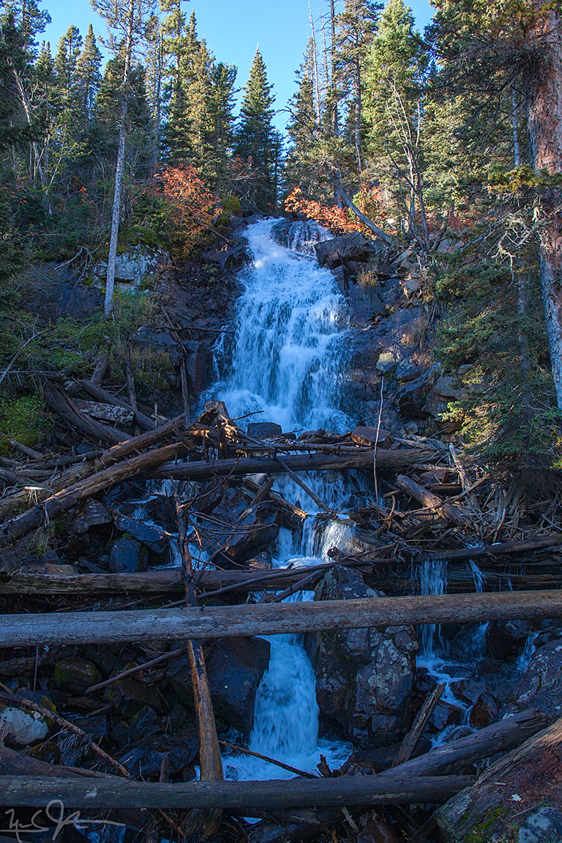 Fern Falls, elevation 8800 feet.