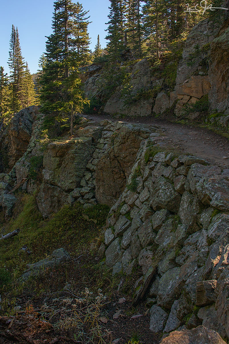 Some excellent trail engineering just below Odessa Lake.