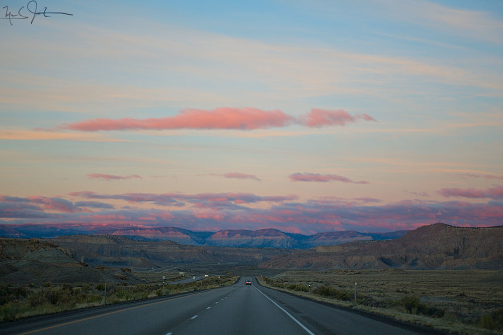 On the road - central Utah.