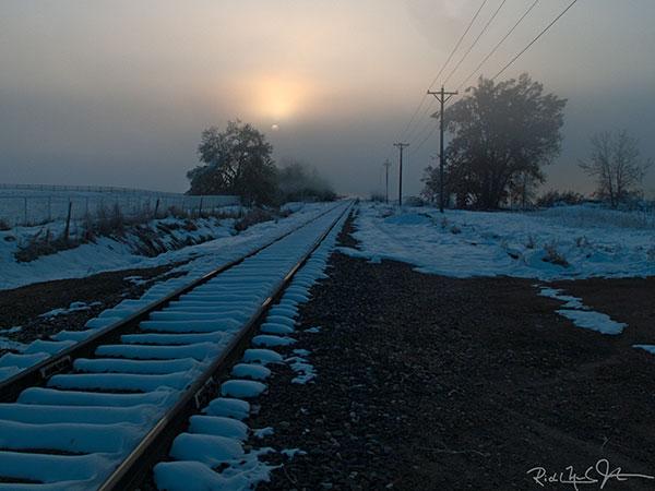 Struggling sunrise, near Hygiene, Colorado.