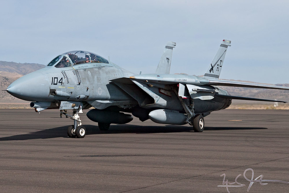 F-14 Tomcat taxis out.