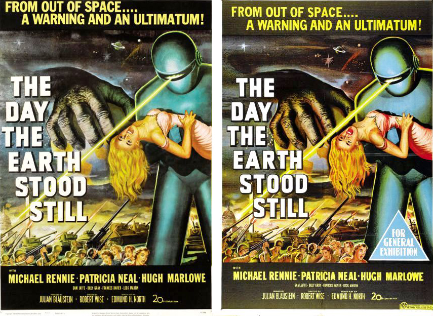 Left- American Poster  Right- Australian Poster