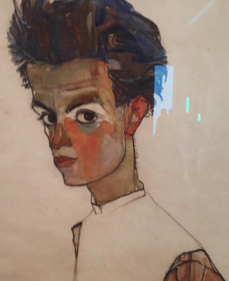 Egon Schile, self portrait, Leopold Museum, Vienna Austria