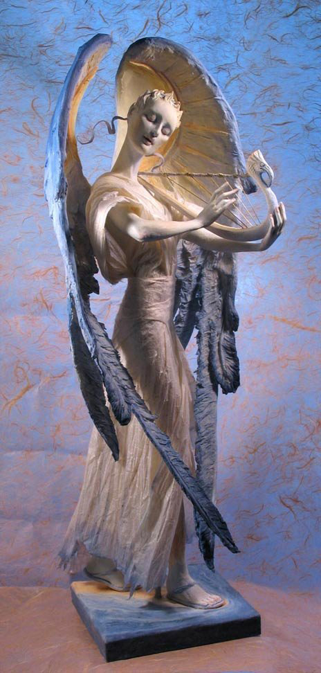 An Angel in air-dry clay, from a few years back.
