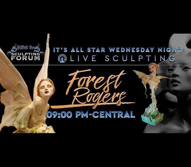 Friends, I'm honored to be sculpting live on the Shiflett Sculpting Forum, Facebook, Wednesday evening from 9 Central time. It'll be there as a video afterwards, too. Jarrod and Brandon @shiflettbros are launching a series of Wed night guest sculptors, which will be fascinating! I will do my best at launch, and hope for questions in the comment section...😊 — #shiflettbrothers #sculpt #sculptingdemo #forestrogers #fantasyart
