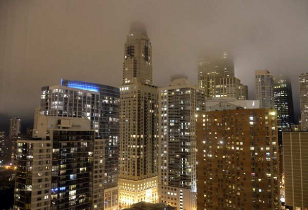 Chicago Skyline with Fog