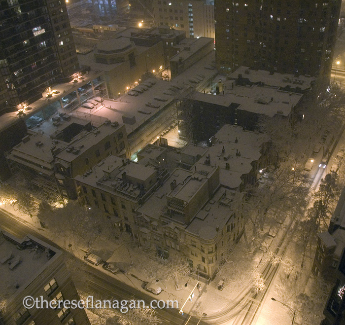 Chicago City Block with Snow
