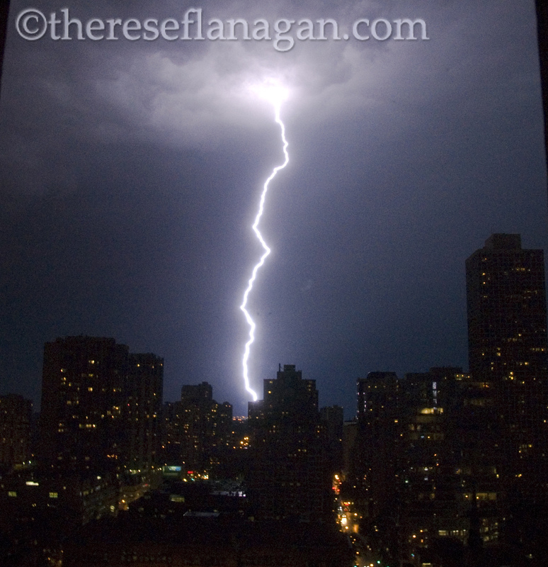 Chicago Summer Storm with Lightning