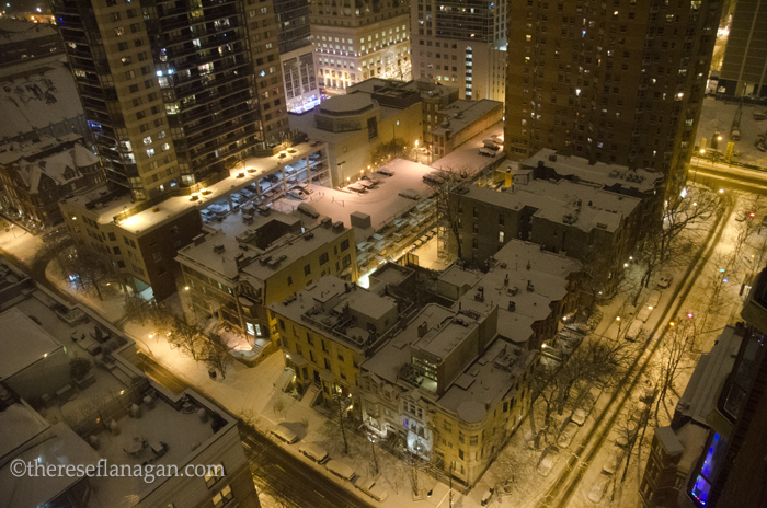 Chicago City Block on a December Night