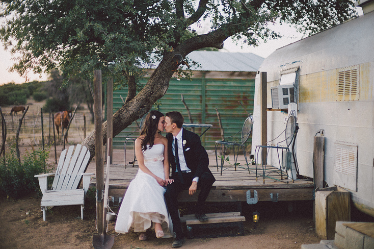 vintage airstream and bride