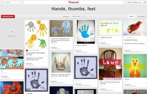 hands, thumbs, feet Pinterest board