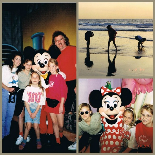 1994 visit to Disneyland and the beach