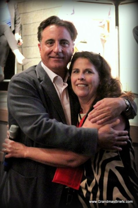 Andy Garcia with Lisa of Grandma's Briefs