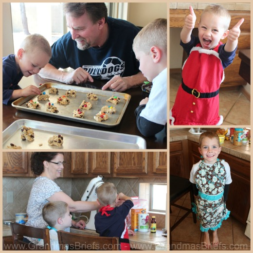 making cookies with grandchildren
