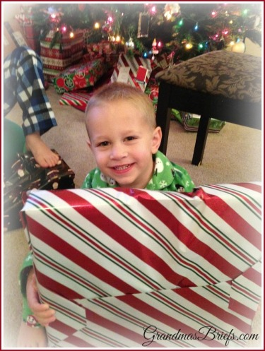 toddler at Christmas