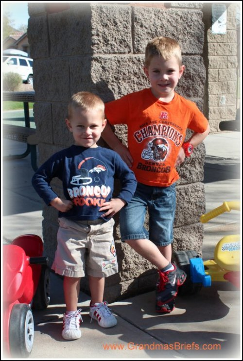 young Denver Broncos fans
