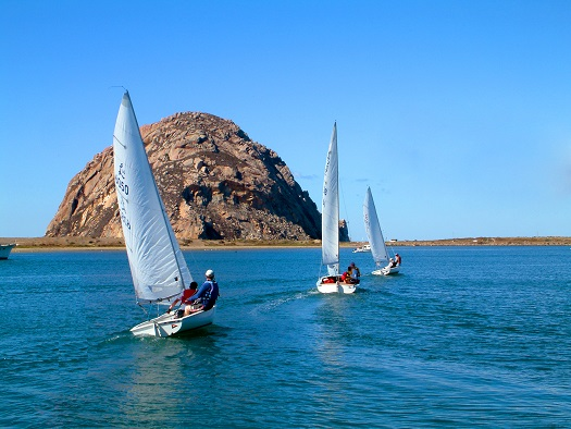 sailing around morro bay rock