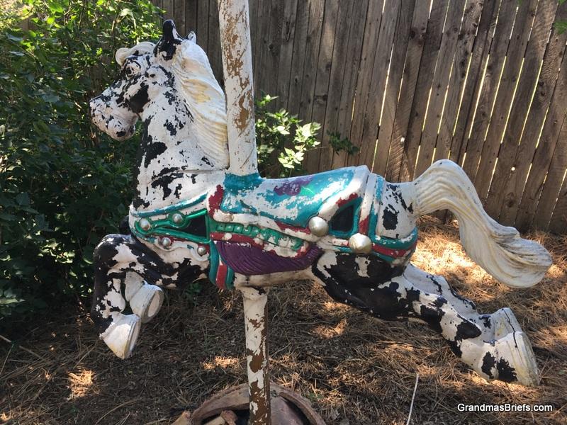 carousel horse yard art