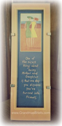 Mothers and Daughters plaque