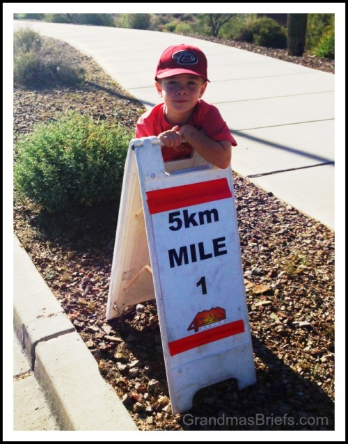 kids run mile marker