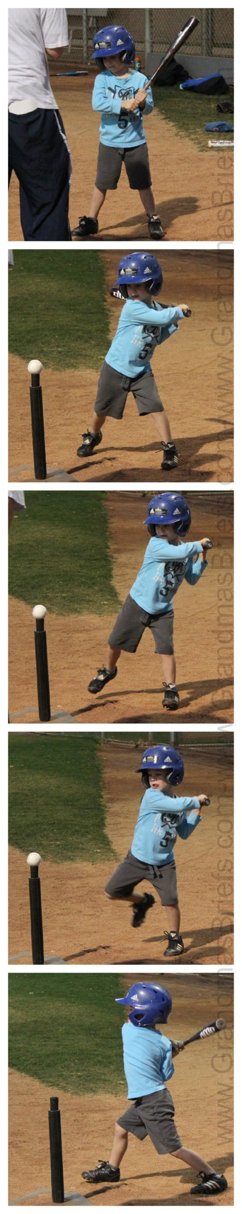 Lefty T-ball hit
