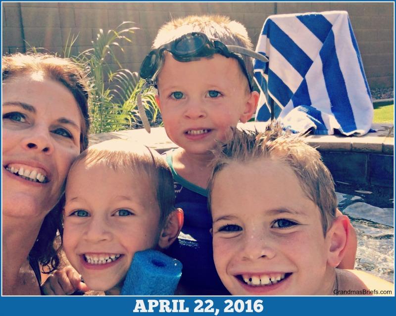 grandma and grandsons selfie April 2016 Throwback Thursday