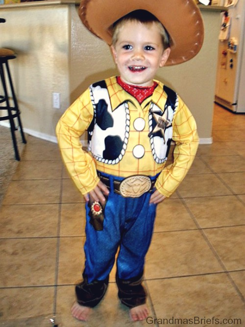 Woody costume cowboy toddler